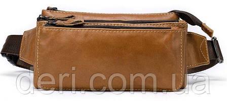 Бананка кожаная Vintage 14900 Светло-коричневая, Коричневый, фото 2