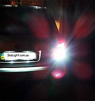 Автомобильная лампа SLP LED 144-3014 SMD в задний ход и ДХО с цоколем 1156(P21W)(BA15S)(R5W)  Белый, фото 2