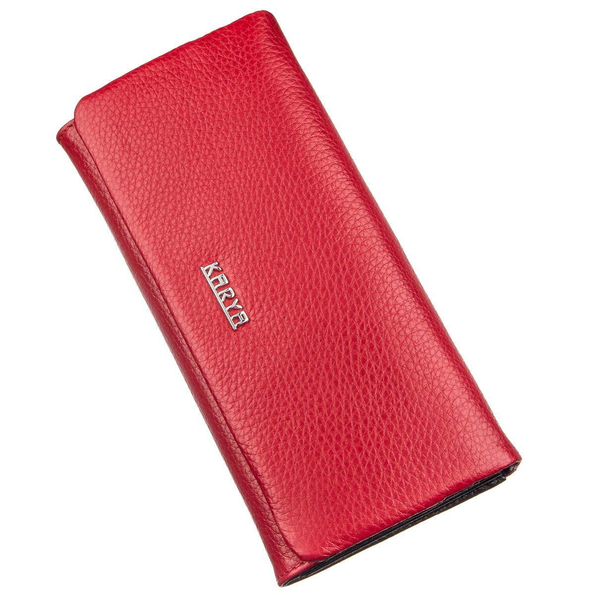 Кошелек женский комбинированный кожаный KARYA 17396 Красный