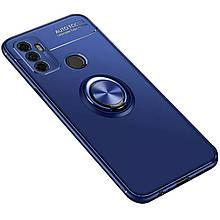TPU чехол Deen ColorRing під магнітний тримач (opp) для Oppo A53 / A32 / A33 Синій / Синій