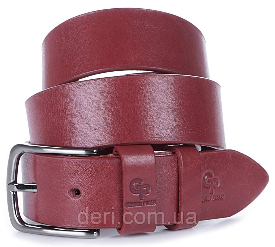 Ремінь жіночий GRANDE PELLE 00915 шкіряний Червоний, Червоний