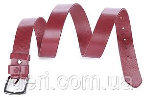 Ремінь жіночий GRANDE PELLE 00915 шкіряний Червоний, Червоний, фото 2