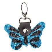 Брелок сувенір метелик STINGRAY LEATHER 18537 з натуральної шкіри морського скату Синій, Синій