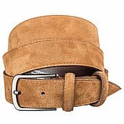 Ремень замшевый MAYBIK 15266 Светло-коричневый, Коричневый