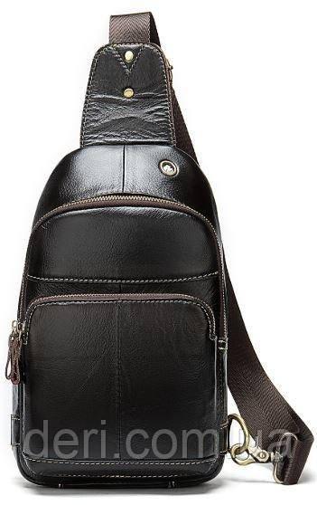 Сумка через плечо мужская Vintage 14858 Коричневая, Коричневый