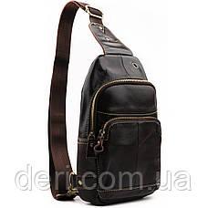 Сумка через плечо мужская Vintage 14858 Коричневая, Коричневый, фото 3