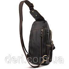 Сумка через плечо мужская Vintage 14858 Коричневая, Коричневый, фото 2
