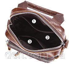 Сумка-барсетка на пояс чоловіча шкіряна Vintage 20012 Коричневий, Коричневий, фото 2