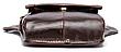 Сумка-барсетка на пояс мужская кожаная Vintage 20013 Коричневая, Коричневый, фото 2