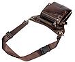 Сумка-барсетка на пояс мужская кожаная Vintage 20013 Коричневая, Коричневый, фото 3