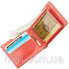 Бумажник женский из натуральной кожи морской змеи красный, фото 3