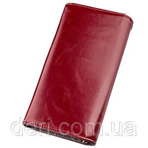Гаманець жіночий з зернистою екошкіра бордовий, фото 2