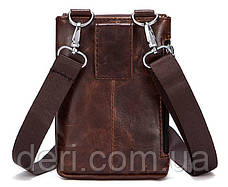 Сумка-клатч на ремень мужская Vintage 14690 Коричневая, Коричневый, фото 2
