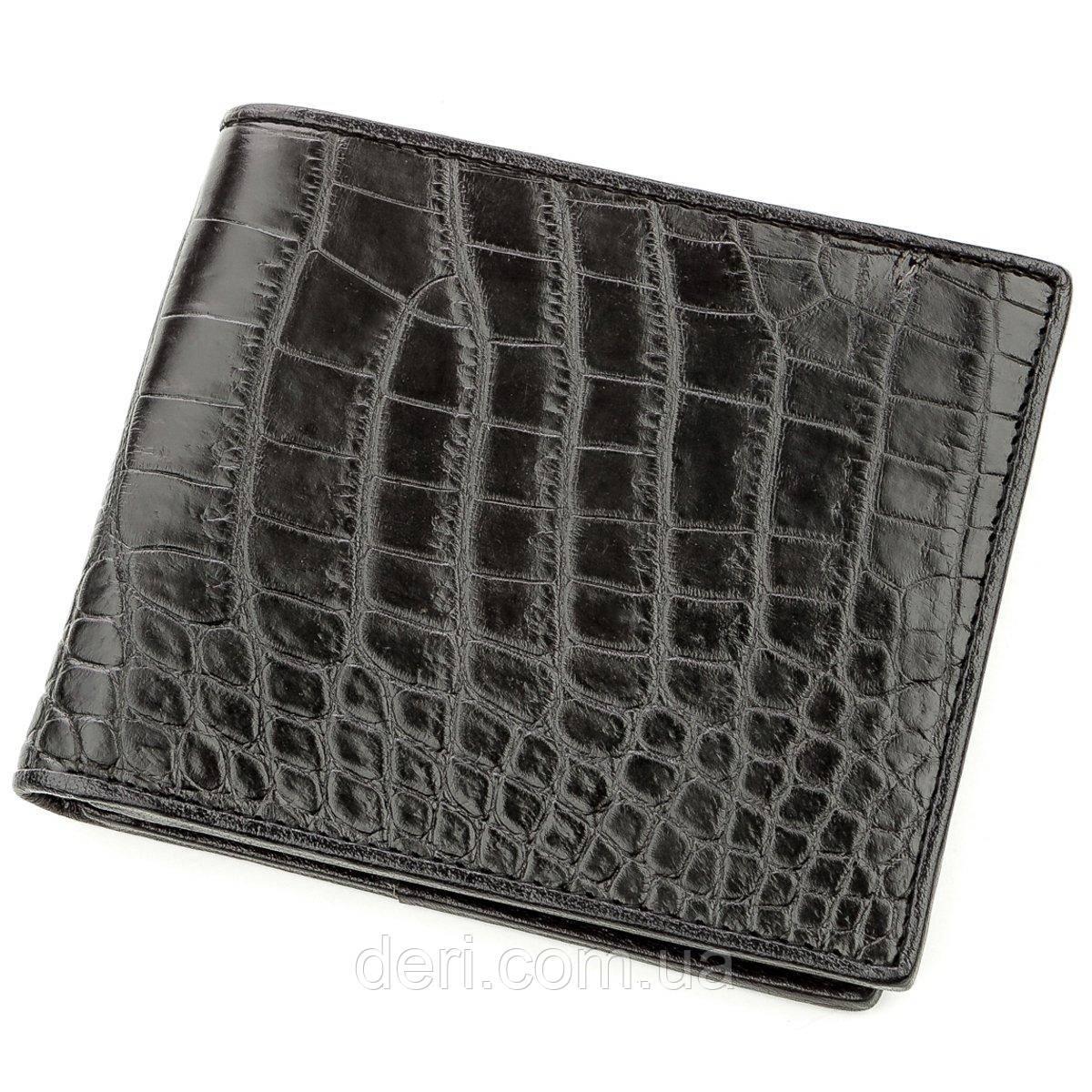 Ексклюзивний гаманець чоловічий з натуральної шкіри крокодила CROCODILE LEATHER