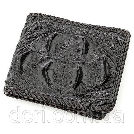 Бумажник мужской CROCODILE LEATHER 18580 из натуральной кожи крокодила Черный, Черный, фото 2