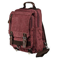 Сумка-рюкзак на одно плечо Vintage 20140 Малиновая