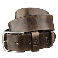 Ремень мужской с круглой пряжкой Grande Pelle 11274 Серо-коричневый, фото 1