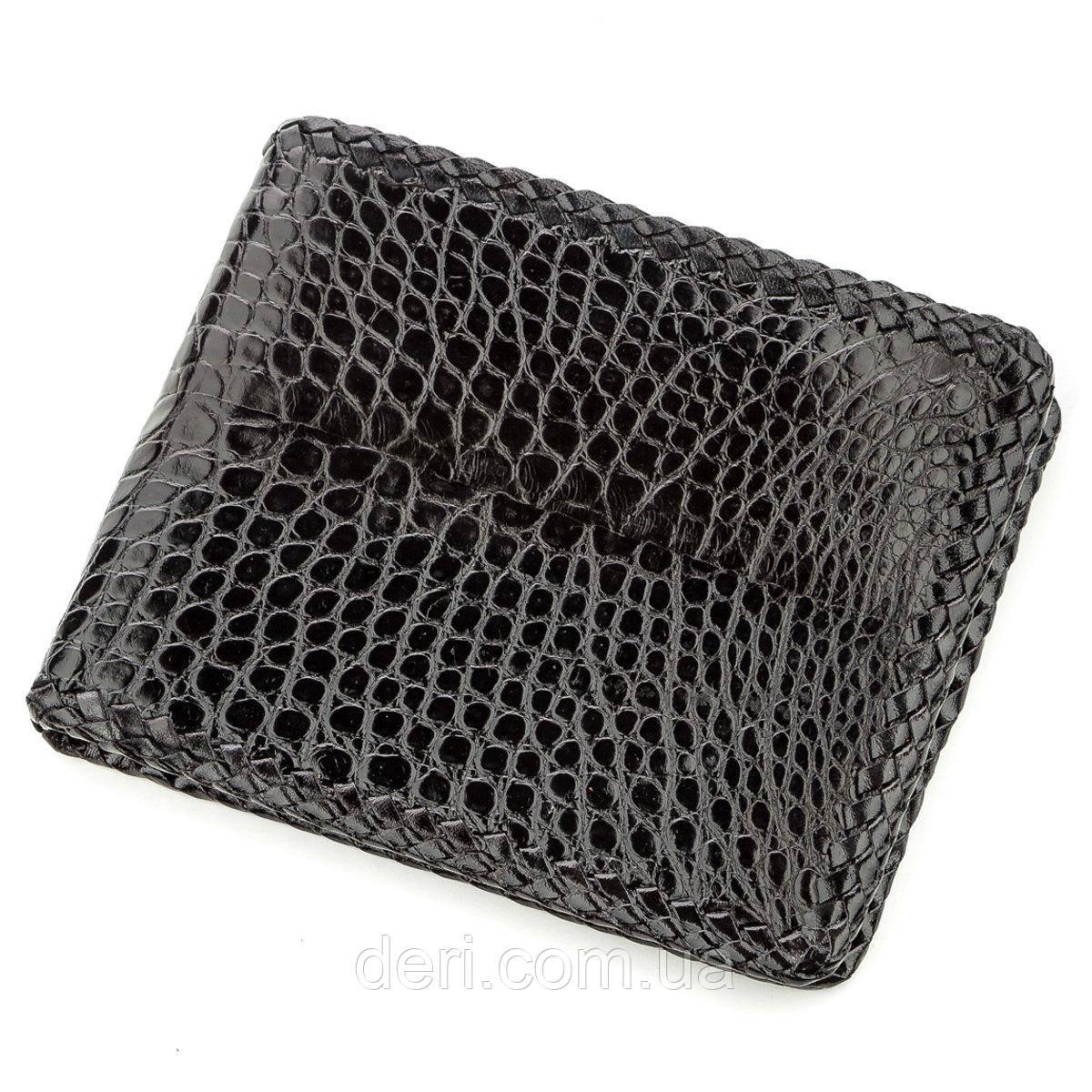 Крутой бумажник мужской из натуральной кожи крокодила
