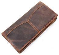 Бумажник мужской в винтажном стиле из натуральной кожи