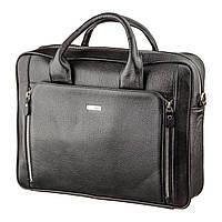 Деловая мужская сумка из кожи KARYA 17284 Черная, фото 1