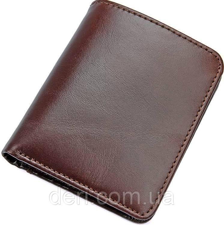 Гаманець чоловічий Vintage 14506 шкіряний Коричневий, Коричневий