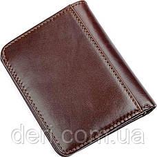 Гаманець чоловічий Vintage 14506 шкіряний Коричневий, Коричневий, фото 3