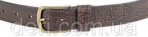 Ремінь чоловічий GRANDE PELLE 00971 шкіряний Коричневий, Коричневий, фото 2
