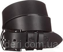 Ремень мужской GRANDE PELLE 11027 джинсовый Черный, Черный