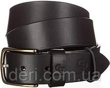 Ремень мужской GRANDE PELLE 11031 джинсовый Черный, Черный