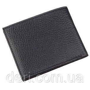 Тонкий чоловічий гаманець шкіра флотар чорний, фото 2