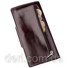 Бумажник мужской вертикальный на кнопочной застежке, фото 3
