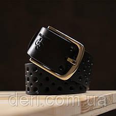 Ремень мужской Grande Pelle 11066 джинсовый Черный, Черный, фото 3