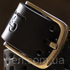 Ремень мужской Grande Pelle 11066 джинсовый Черный, Черный, фото 2