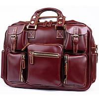 Дорожная сумка-портфель Vintage 14776 Бордовая, фото 1