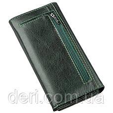 Утонченный женский кошелек зеленый, фото 2