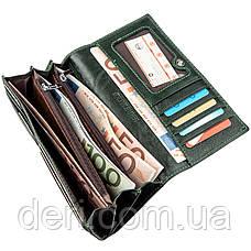Утонченный женский кошелек зеленый, фото 3