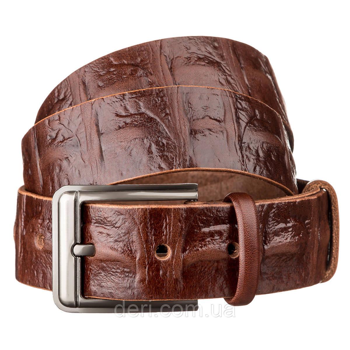 Ремень мужской SHVIGEL 15269 кожаный Коричневый, Коричневый