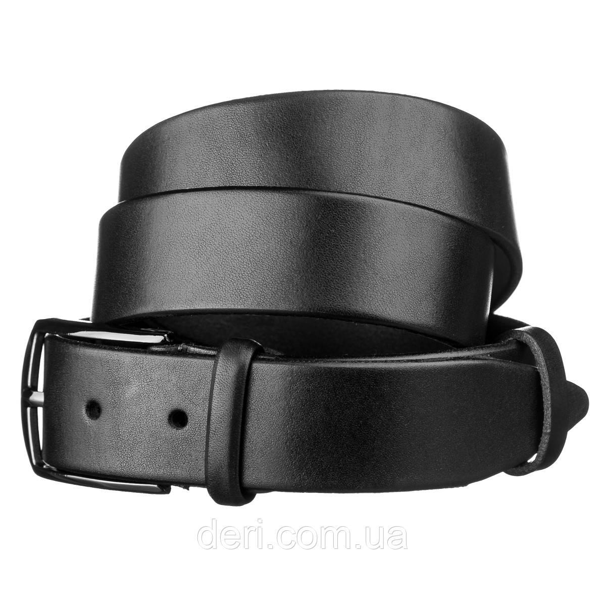 Ремень мужской SHVIGEL15268 кожаный Черный, Черный