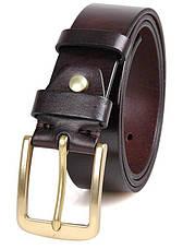 Ремінь чоловічий Vintage 14402 джинсовий Коричневий, Коричневий, фото 2