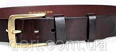 Ремінь чоловічий Vintage 14402 джинсовий Коричневий, Коричневий, фото 3