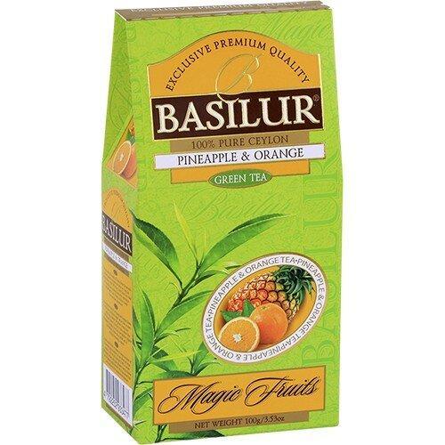Зеленый чай Basilur Ананас и Апельсин картон 100 г
