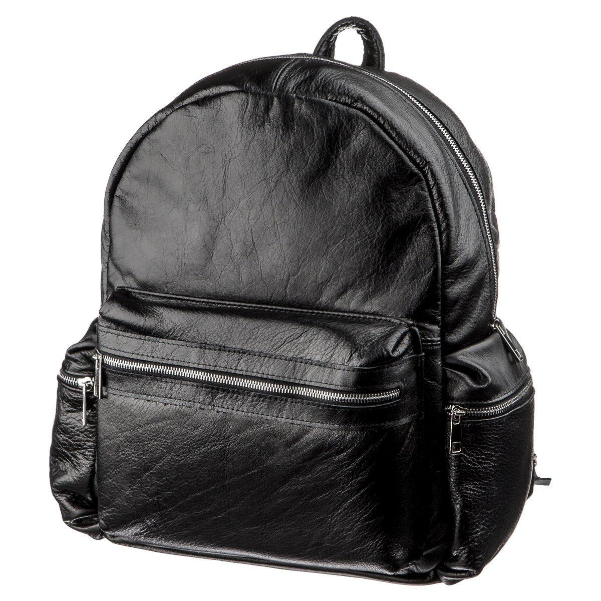 Рюкзак SHVIGEL 11260 кожаный Черный
