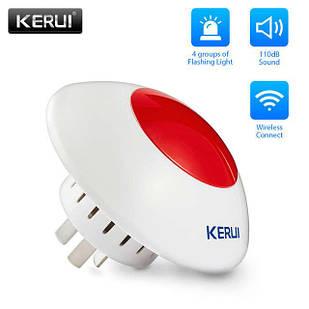 Бездротова сирена зі стробоскопом, Kerui J009 для GSM сигналізації (HFDKLL8DD)