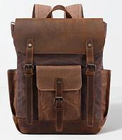 Рюкзак дорожній текстильний Vintage 20057 Коричневий, фото 1