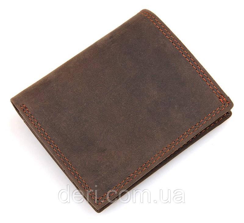 Кошелек мужской Vintage винтажный стиль коричневый