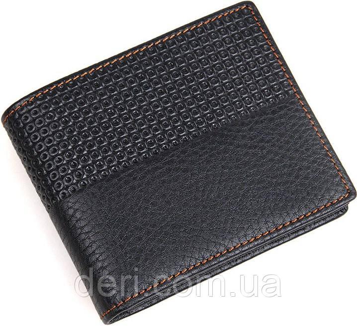 Гаманець чоловічий Vintage шкіряний чорний
