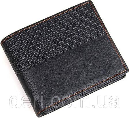 Гаманець чоловічий Vintage шкіряний чорний, фото 2