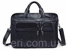 Вместительная дорожная сумка Vintage 14883 Черная, Черный