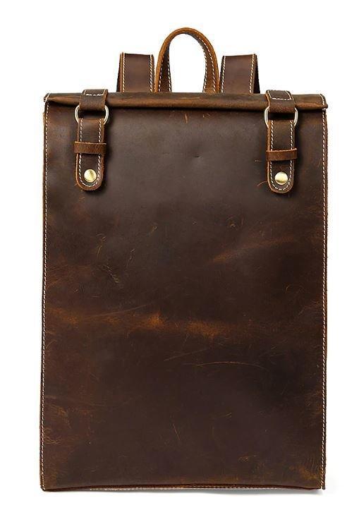 Рюкзак кожаный дорожный Vintage 14796 Коричневый