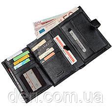 Місткий і функціональний чоловічий гаманець чорний, фото 3